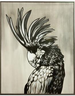Black Cockatoo Framed Canvas 124x153cm