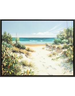 "Raelean Hall - ""Well Kept Secret"" Limited Edition Framed Canvas 100x76cm"