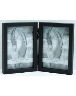 Double Black Premade Frame 6x4 inches