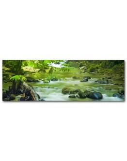 Green Mountain Stream Printed Canvas 158x53cm