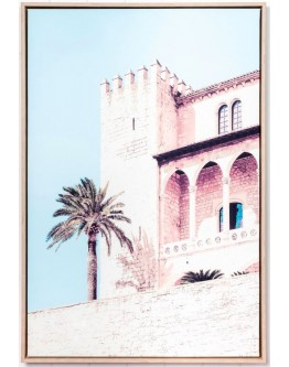 Moroccan Castle Framed Canvas 62x 92cm