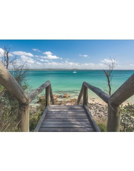 Steps to Beach Printed Canvas 118x80cm