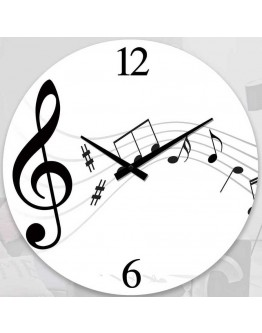 Music Notes clock 17cm