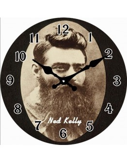 Ned Kelly clock 17cm