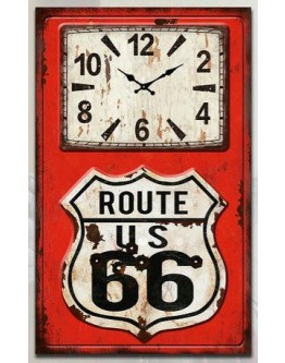 Route 66 clock 25x40cm