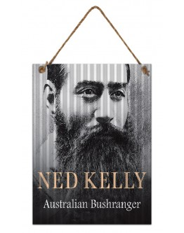 Ned Kelly Corrogated Tin Sign