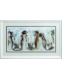 Amanda Brooks - Morning to Meadow Trio Framed Print 103x67cm