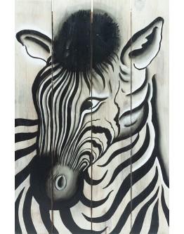 Zebra Wood Panel 40x60cm