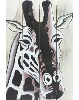 Giraffe Wood Panel 40x60cm