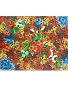 Aboriginal Floral Art 54x44cm