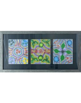 3 Aboriginal Art 80x41cm