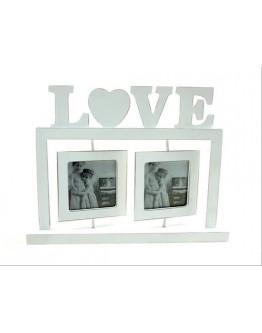 LOVE with 2 Swivel Photos Frame