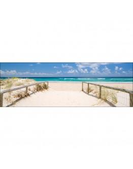 Beach Path Printed Canvas 158x53cm