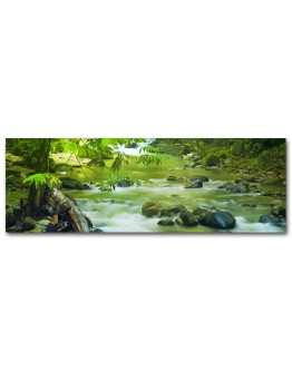 Green Mountain Stream Printed Canvas 158x53cm