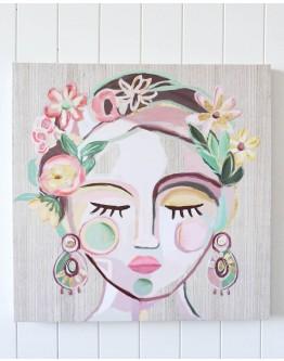 Flower Queen Canvas 60x60cm