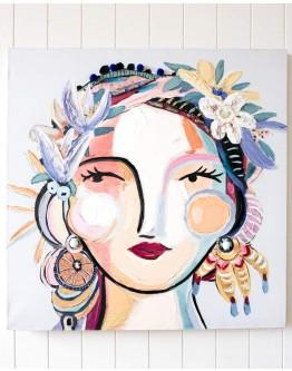 Just Breathe Lady Canvas 80x80cm