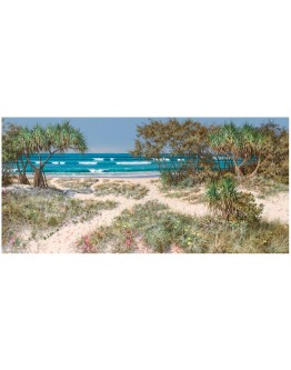 "Raelean Hall - ""Ocean Calling"" Limited Edition Framed Canvas 165x78cm"