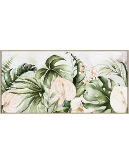 Monstera Paradise Print w/ Oak Finish 120x60cm