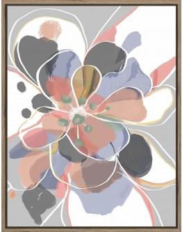 Amanda Skye Petal Flower Print w/ Oak Finish 70x90cm