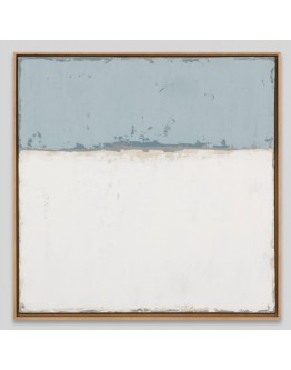 Blue and White Framed Canvas 63x63cm