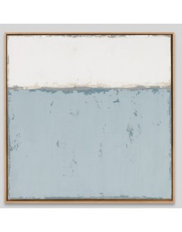 White and Blue Framed Canvas 63x63cm