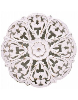 Carved White Wall Decor 41x41cm