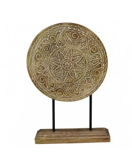 Carved wood table decor 30x45cm