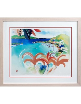 """Helen Wiltshire - """"Hamilton Harbour"""" Limited Edition Framed Print 85x75cm"""
