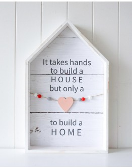 Home Decor Hearts to build a home 30x48cm