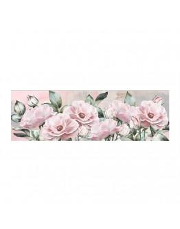 Pink Flower Printed Canvas 150x50cm