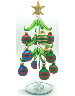 Glass Christmas Tree 22cm